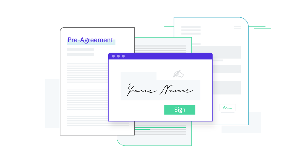Sign the pre-agreement